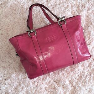 Authentic Hot Pink Coach Leather Purse